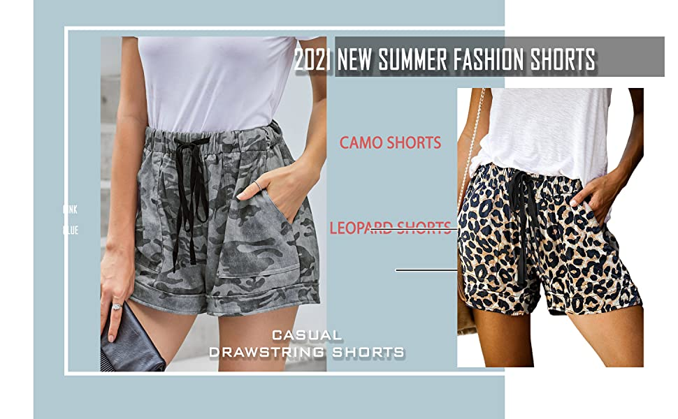 women printed shorts