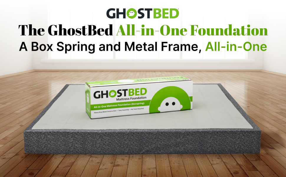 The GhostBed All-in-One Foundation - Box Spring and Metal Frame in One