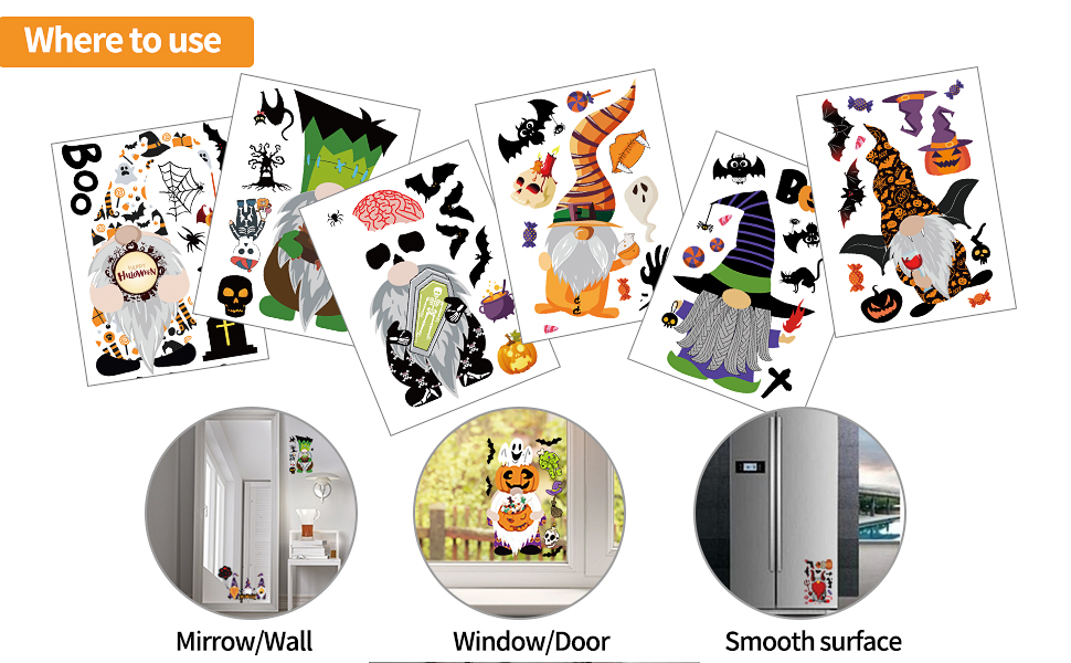 These Halloween party decor can be applied to any smooth surface