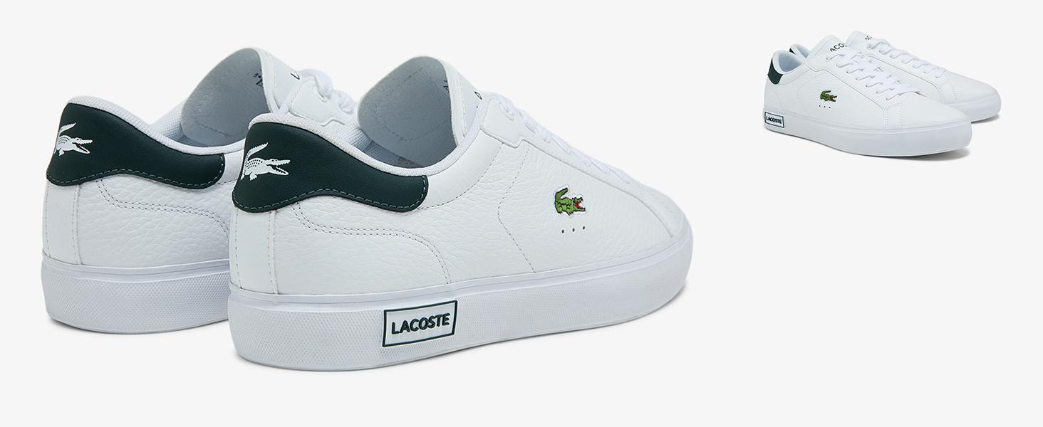 Weißer Lacoste Powercourt-Sneaker