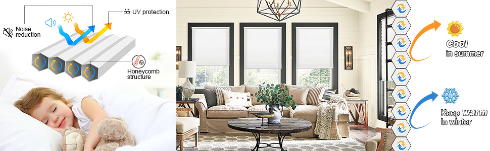 cordless shades and window blinds
