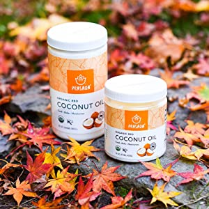 Prasada RBD coconut Oil with fall leaves