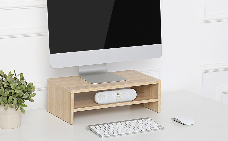 Monitor Stand Riser with Drawer for Laptop, Computer, Printer, Desktop Stand