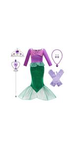 Little mermaid costume for girls