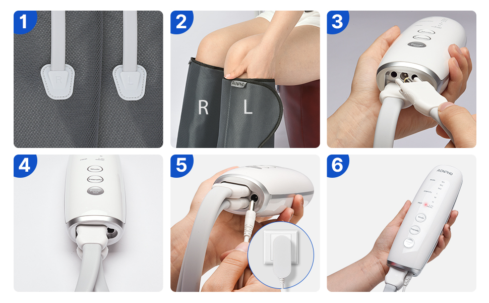 how to use foot massager with controller