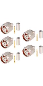 RG58-N-J-crimp connector