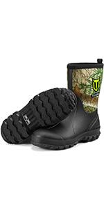 mid calf rubber boots