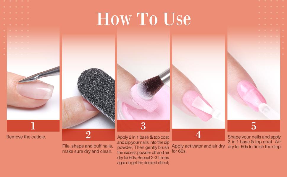 dip powder nail