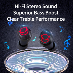 Hi-i Stereo bluetooth earset Sound Superior Bass Boost Clear Treble Performance