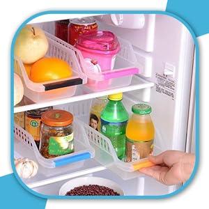 Angel Bear Fridge Storage Shelf Space Saver Food Organiser Rack SPN-FOR1