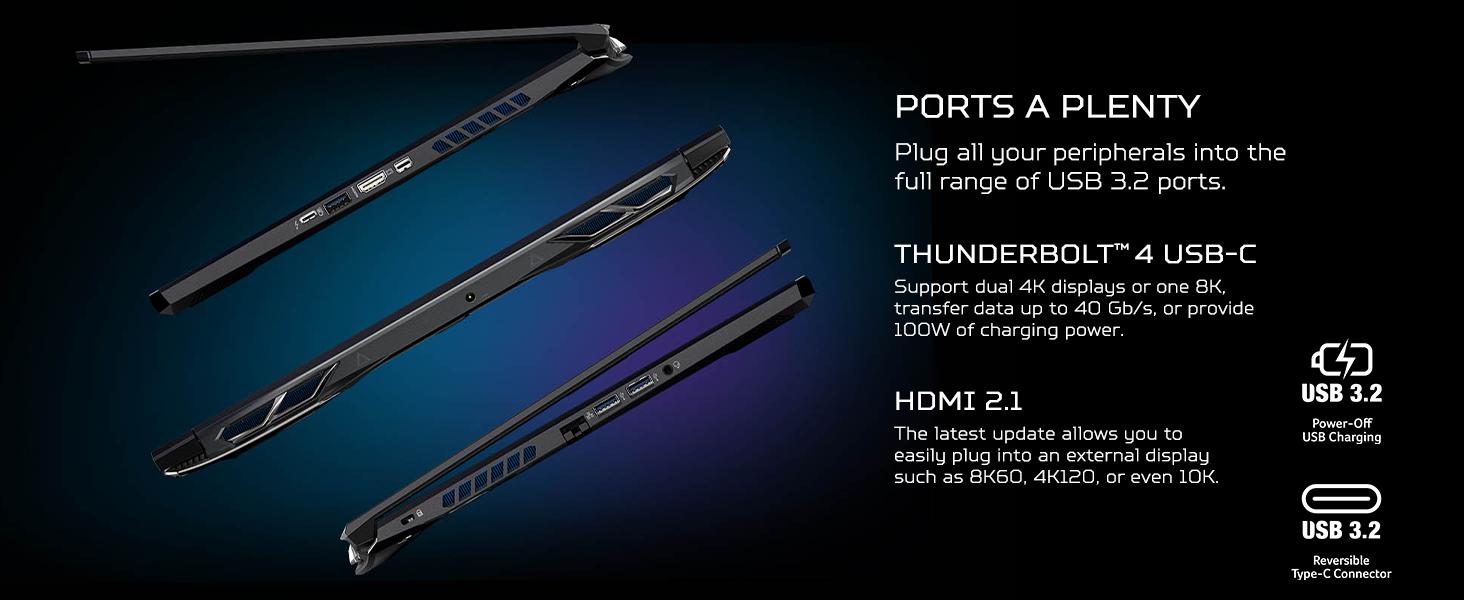 ports external monitor dual usb c hdmi thunderbolt 4 charging charge fast data transfer dual 4k