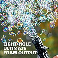 Gatling Automatic Bubble Gun Children's Bubble Toy Automatic Bubble Machine Black
