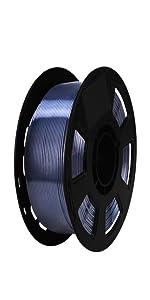 silk metal black pla filament 1.75