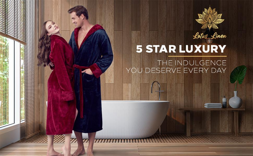 suave elegantes bata de baño para mujer