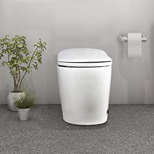 EUROTO [Newest 2021] One-Piece Dual Flush, Integrated Bidet and Toilet
