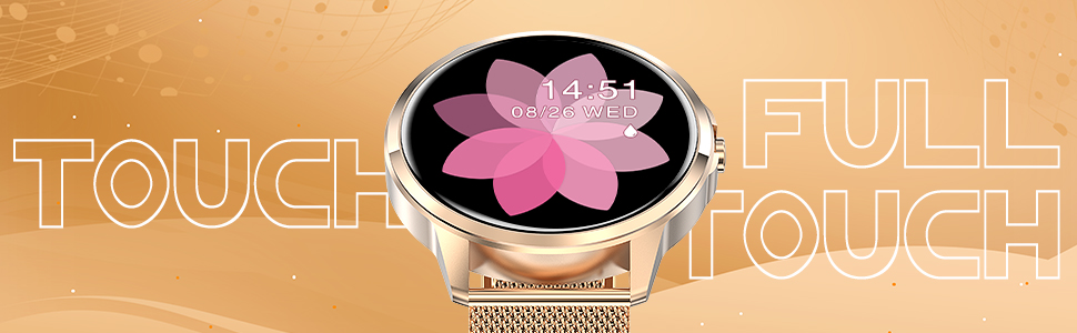 round full touch screen smart watch