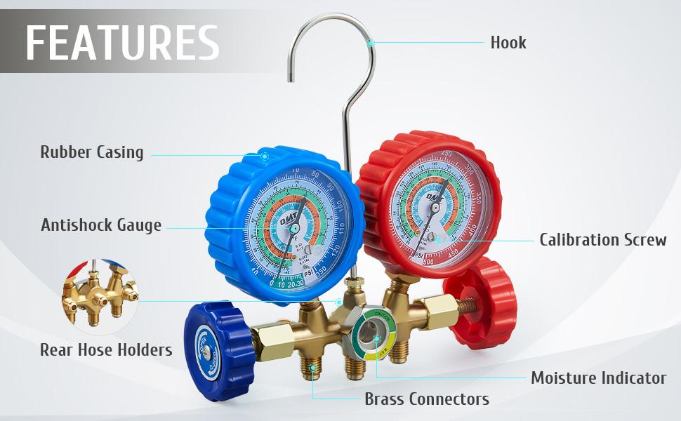 ac manifold gauge set r134a