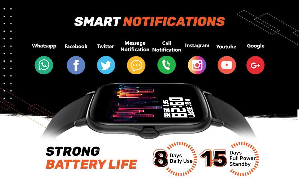 Smart notifications smartwatch