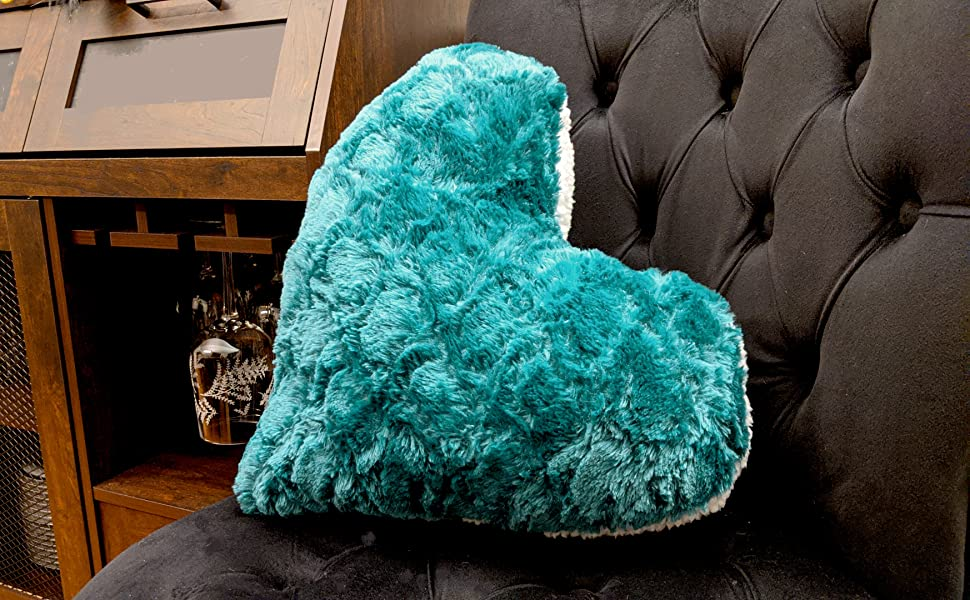 st patricks day irish whisky drinking teal green heart shaped throw pillow home decor party event