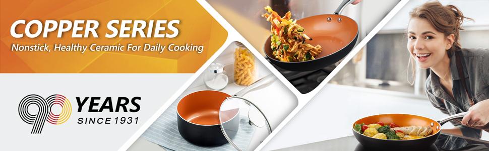 copper skillets nonstick ,michelangelo frying pan,copper nonstick pan,ceramic frying pan with lid