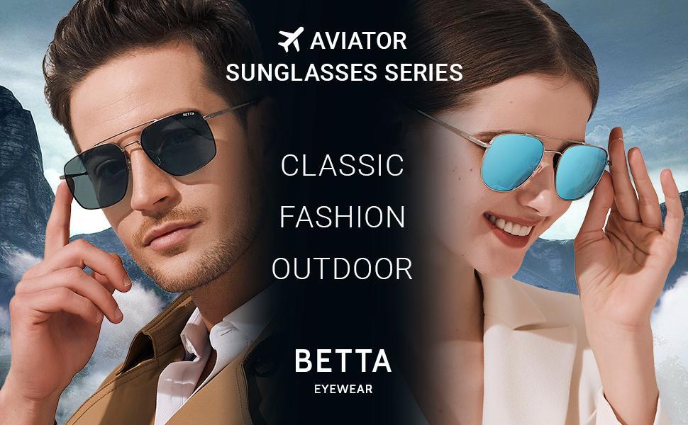 Aviator sunglasses for women and men