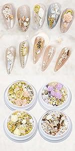 4 box nail art charms