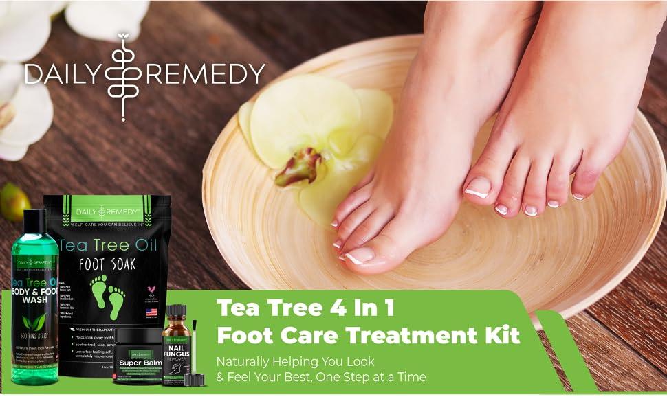Tea Tree 4 In 1 Foot Care Treatment Kit