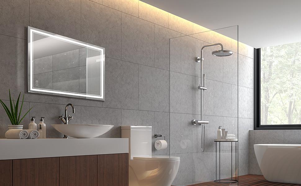 Horizontal Bathroom Mirror