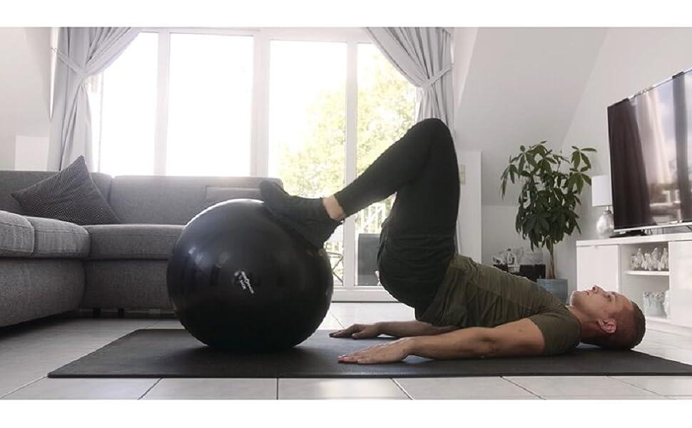 Ganzkörpertraining Trainingsball Übungsball Fitness Sport Training Übung  Fitnesstraining Home Gym