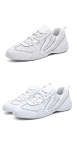 Women Adult White Chear Shoes Girlsamp;#39; Lace Up School Cheerleading Dance Sport Training Sneakers