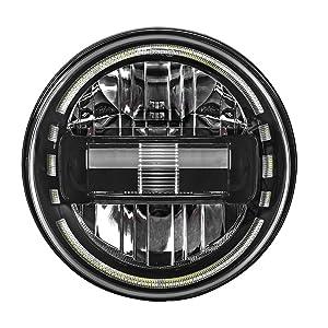 black 7amp;#39;amp;#39; headlamp with drl