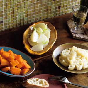 オリーブオイル オイル蒸し おいるむし 野菜 かぶ カブ レンコン にんじん 人参 ニンジン バター バター蒸し エクストラバージンオリーブオイル フライパン 青菜 青梗菜 ヘルシー スピーディー