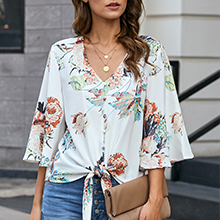 white tops for women trendy tops for women 3/4 sleeve blouse button down shirts