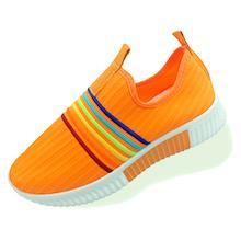 Tashm Women Orange Knitted Shoes