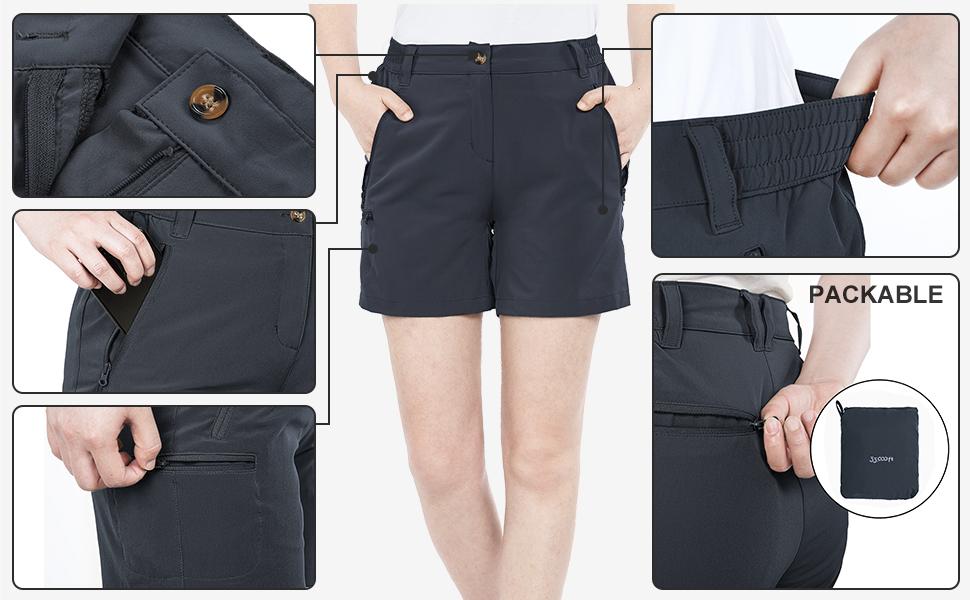 women's cargo shorts features
