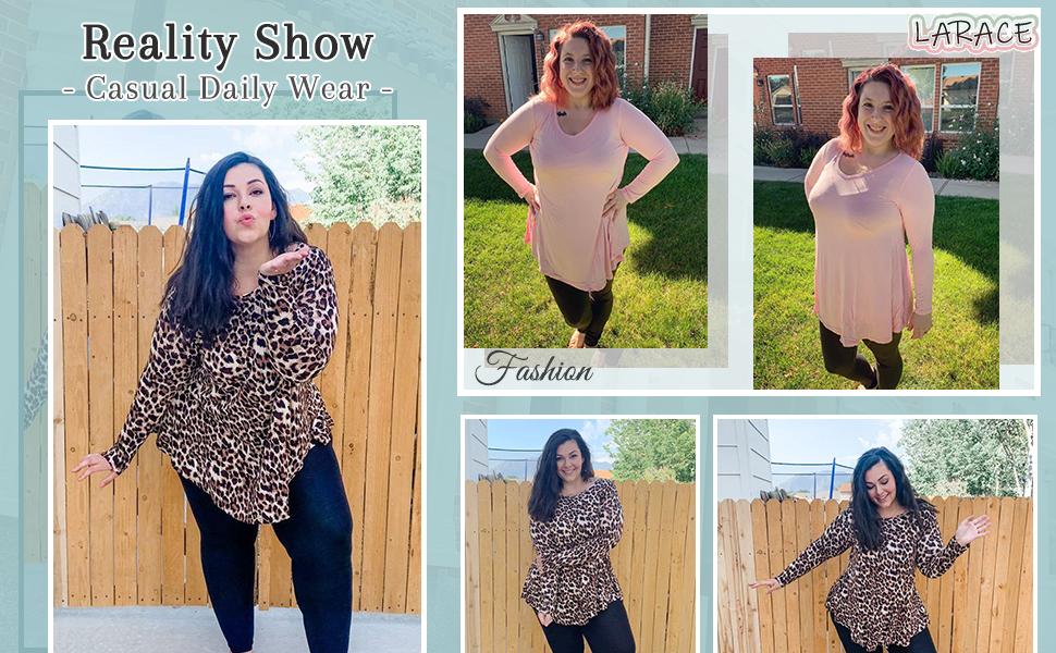 8056 Customer Show Of Casual Swing Women Long Sleeve Tunic Tops