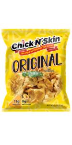 Crispy fried chicken skins - original keto low carb high protein chips gluten free snacks