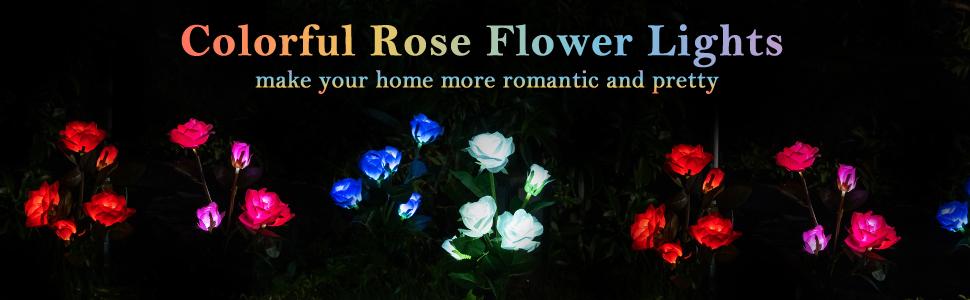 Colorful Rose Flower Lights