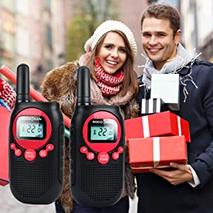 walkie talkies great gifts for adults kids family two way radio frs rechargeable long range 5 miles