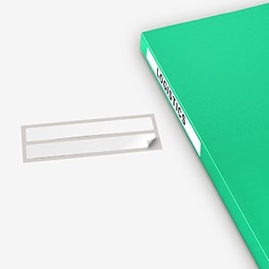 presentation book includes label. color shown is green