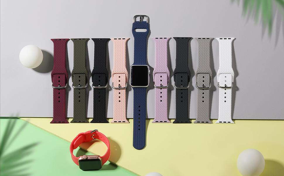 Different Color to choose to dress up the Apple Watch