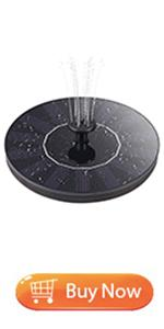 solar fountain pump for bird bath