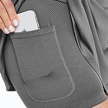 sports skorts with phone pockets