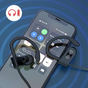 Bluetooth Headphones  Wireless Sports Earphones noise canceling microphones