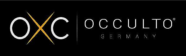 Logotipo de Occulto blanco sobre fondo negro.