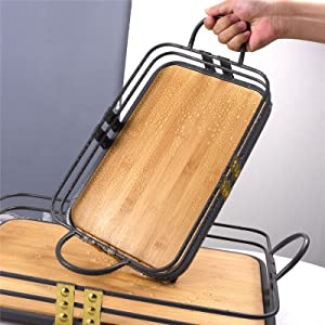 Service Tray Bamboo Wine Tray Transfer Tray