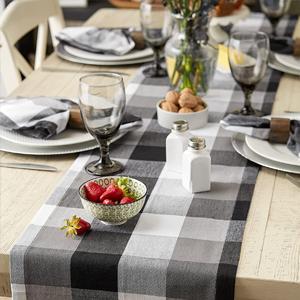 Tri-Color Black Tablecloth
