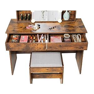 vanity set with 2 drawers