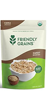 Friendly Grains Allergy Friendly Sweet Brown Rice Cereal. Puffed Brown Rice.