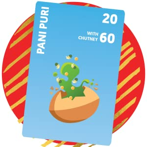 Pani Puri card, chatpate card game, premium quality game